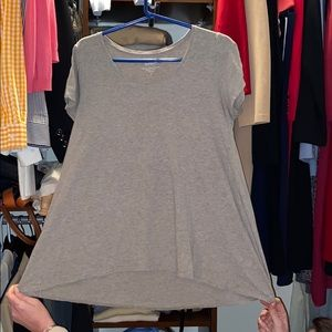 Short sleeve pure jill elliptical t heather gray